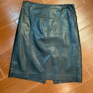 Saks Fifth Avenue leather skirt